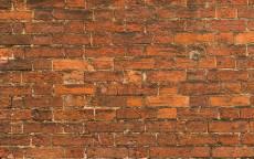 Кирпичная стена, красный кирпич
