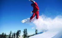 Сноуборд полет