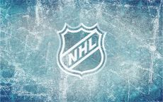 Логотип НХЛ на льду