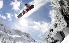 Олимпиада Сочи 2014 Сноубордист в полете