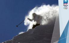 Олимпиада Сочи 2014 Лыжник на трассе