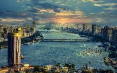 Египет, Каир, небоскребы, панорама