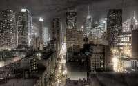 Дождь в ночном городе