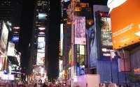 Ночная реклама в городе