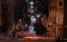 США, Калифорния, ночной Сан-Фрнциско