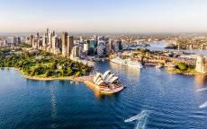 Панорама Сиднея, Австралия, Сиднейский оперный театр.