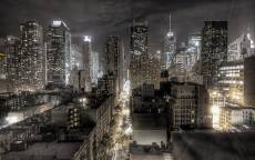 Ночной Чикаго, огни ночного города