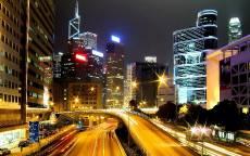 Гонконг, Неон, Ночь, Небоскрёбы