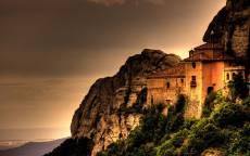 Испания, Монастырь Монсеррат, горы, вечер