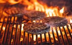 огонь, гриль, жаренное мясо, стейк, котлета