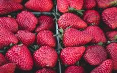 Еда, ягоды, клубника, земляника