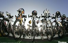 Триатлон велосипеды на старте