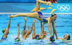 Синхронное плавание выход из воды